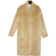 FORTE FORTE Alpaca Coat ($416) ❤ liked on Polyvore featuring outerwear, coats, jackets, coats & jackets, camel coat, collar coat, forte forte, brown coat and alpaca wool coats
