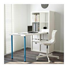 KALLAX Íróaszt komb - fehér/kék - IKEA
