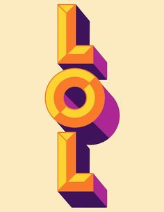 LOL by Manuel Cetina, interesting retro font and colours. Cool Typography, Typography Letters, Japanese Typography, Calligraphy Letters, Typography Inspiration, Graphic Design Inspiration, Type Design, Design Art, Web Design