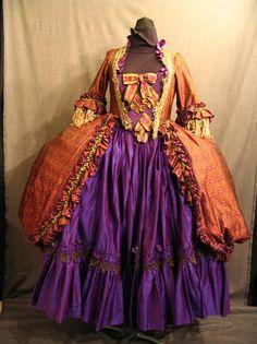 18th century purple and orange costume