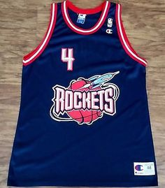 3b075921b88 Charles Barkley #4 Houston Rockets Champion Jersey Vintage NBA Rare Mens 48  Nba Sports,