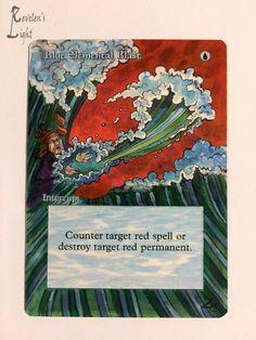 Blue Elemental Blast - MTG Alter - Revelen's Light Altered Art Magic Card