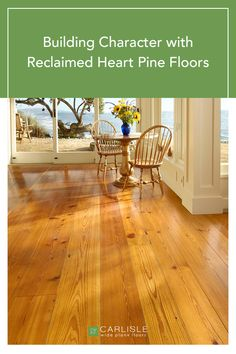 This home needed wide plank flooring that could withstand the warm weather and humidity that is expected when nestled next to the Pacific Ocean. With an eye toward green living and history, read why recycled wood made the perfect floor for this charming abode. #heartpine #upcycle #greenliving Heart Pine Flooring, Pine Floors, Wide Plank Flooring, Carlisle, Recycled Wood, Pacific Ocean, Warm Weather, Upcycle, Eye