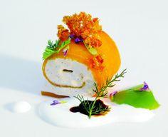 El Bulli - mango and vanilla ice cream roll  photo credit Francesc Guillamet
