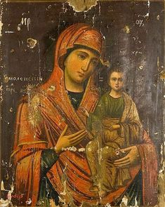 """""""The Mother of God of Smolensk"""" - cent Russian reproduction of an cent Constantinople icon Blessed Mother Mary, Divine Mother, Blessed Virgin Mary, Byzantine Icons, Byzantine Art, Russian Icons, Russian Art, Religious Icons, Religious Art"""
