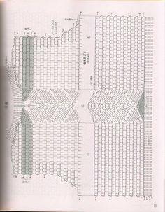 Crochet Diagram, Crochet Chart, Filet Crochet, Crochet Hooks, Crochet Patterns, Crochet Bodies, Crochet World, Crochet Baby Clothes, Crochet Cardigan