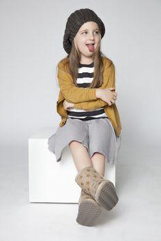 MINIMALIST #Grey Skirt #Mustard Top #Be Unique