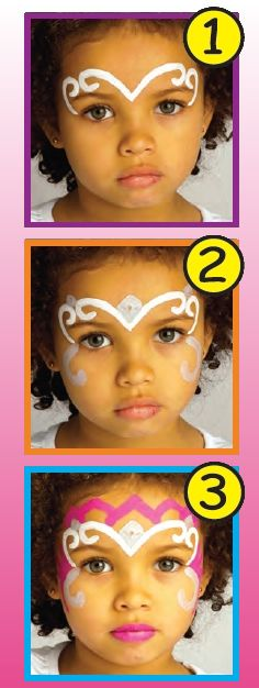 Princess crown face paint - Glinda