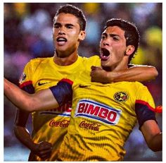 Diego Reyes and Raul Jimenez Club America