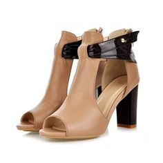 Happymall High Heel Genuine Leather Open Toe Women Sandals Sexy Lady Plus Size Female Shoes *** See this great product.