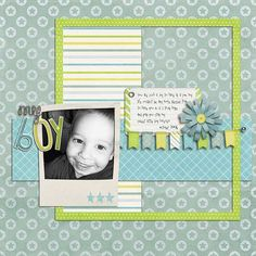 Layout by Natalie using Bright Boy Digital Scrapbooking Kit by Simple Girl Scraps