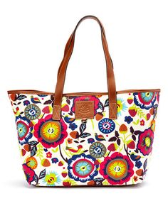 Another great find on #zulily! Floral Fantasy Cotton Canvas Tote by Lily Bloom #zulilyfinds