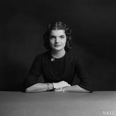 Jacqueline Bouvier Kennedy photographed by Richard Rutledge, VOGUE August 1951