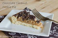 Chocolate Caramel Cookie Pies @Dinnersdishesdessert