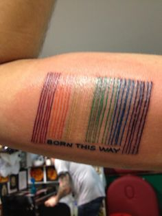 #rainbow #barcode #bornthisway via Have A Gay Day on facebook