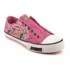 Ed Hardy Lowrise Athletic Sneakers Shoes Pink Womens