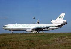 Nigeria Airways McDonnell Douglas DC-10-30 5N-ANN at Paris-Charles de Gaulle, July 1984. (Photo: Michel Gilliand)