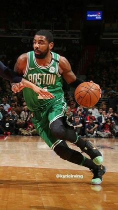 How To Become Great At Playing Basketball. For years, fans of all ages have loved the game of basketball. Basketball Plays, Basketball Is Life, Basketball Skills, Lebron James Kyrie Irving, Irving Wallpapers, West Brook, Boston Sports, Nba Stars, Boston Celtics