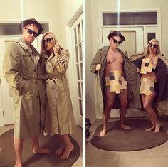 Going to Halloween festivities with your other half?At that point consider a couples Halloween outfit.Unique Couples Halloween Costumes For Genius Styles Halloween Outfits, Unique Couple Halloween Costumes, Couple Halloween Costumes For Adults, Halloween Dress, Funny Halloween Costumes, Diy Costumes, Halloween 2019, Bonnie And Clyde Halloween Costume, Funny Adult Costumes