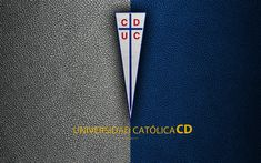 CD Universidad Catolica, 4k, logo, blue leather texture, Chilean football club, emblem, Primera Division, white blue lines, Santiago, Chile, football Sports Wallpapers, Iphone Wallpapers, Blue Lines, Desktop Pictures, Leather Texture, Football Soccer, Business Card Design, Club, Logos