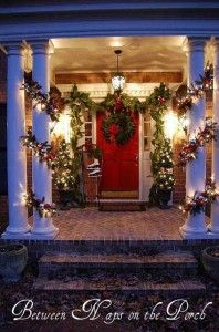 DIY-Christmas-Porch-Ideas: well lit interior