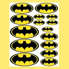 INSTANT DOWNLOAD Batman ( 4 sizes ) - for Balloon, Stickers, Lollipop, Favor…