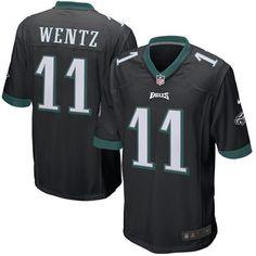 Nike Carson Wentz Philadelphia Eagles Black 2016 Draft Pick Game Jersey
