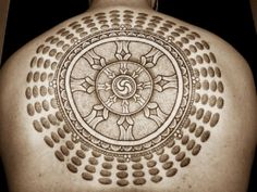 Buddhist Tattoo concepts : The Holy Circle Budhist Tattoo Design On Back