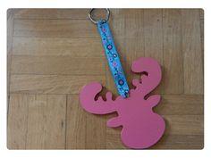 porte clef renne bois et tissus : Porte clés par bouille-a-bisous