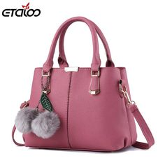 New Bag Women Leather Handbags Female Sweet Lady Fashion Handbag Messenger Shoulder