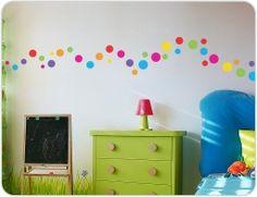 polka dot wall stickers