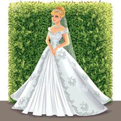 Greco Archibald Disney Princesses x Modern Brides Cinderella All Disney Princesses, Disney Princess Drawings, Disney Princess Art, Disney Princess Dresses, Disney Dresses, Disney Drawings, Princess Aurora, Flame Princess, Cinderella Drawing