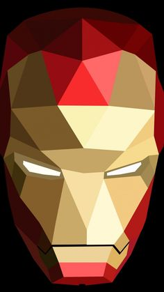 Geometric art, iron man, low poly, 720x1280 wallpaper