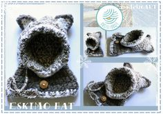 ESKIMO crochet hat for baby