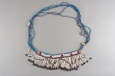 Fringed modesty apron, or inkciyo worn by women, from the Mpondomise tribe, South Africa. African History, African Art, Beadwork, Beading, Tassel Necklace, Turquoise Necklace, Xhosa, African Jewelry, Museum Collection