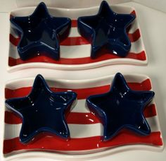 Boston Warehouse Flags Flying 3-Piece Serving Set, Patriotic 4th of July, USA! #BostonWarehouseTradingCorp