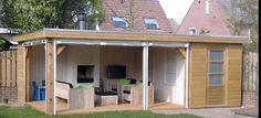 tuinhuis met veranda modern - Google zoeken