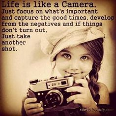 Life is like photography, you need negatives to develop!