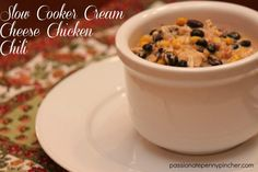 Slow Cooker Cream Cheese Chicken Chili {25 Days of Slow Cooking}