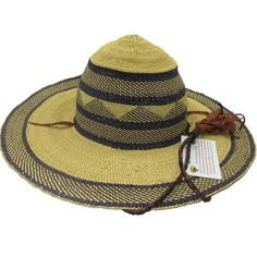"""African Straw Hat with Chin Strap #14-Fits 21""""-22"""" Head Fit 21, Zulu, African, Fitness, Zulu Language"""