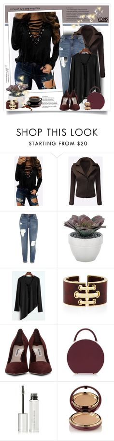 """""""Yoins"""" by sneky ❤ liked on Polyvore featuring River Island, Torre & Tagus, Miu Miu, BUwood, Givenchy, Wander Beauty, yoins, yoinscollection and loveyoins"""