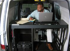 Mobile Office installed in a Ford Transit Connect.