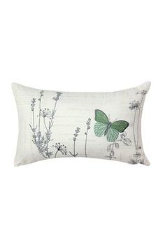 """Add a touch of nature to your bedroom with this wild flower and butterfly scatter cushion. Measures 30x50cm.<div class=""""pdpDescContent""""><BR /><b class=""""pdpDesc"""">Dimensions:</b><BR />L50xH30 cm<BR /><BR /><b class=""""pdpDesc"""">Fabric Content:</b><BR />50% Polyester 50% Cotton<BR /><BR /><b class=""""pdpDesc"""">Wash Care:</b><BR>Gentle machine wash low heat tumble dry</div>"""