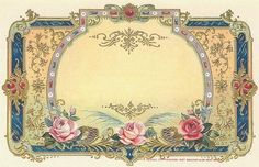 Vintage labels with framed designs in  PDF templates in Mailing and Shipping Label sizes. Free