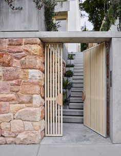 Indoor Outdoor Living, Outdoor Decor, Compact House, Concrete Steps, Storey Homes, Australian Homes, Architectural Elements, Architectural Features, Sliding Glass Door