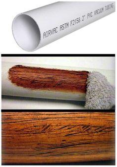 Making PVC Look Like Wood I came up with this simple trick to give PVC pipe a realistic wood texture when I built a few plastic didgeridoos a couple of years ago. It would also work for theater, home decor or backyard tiki-bars! This is a simple and cheap way to add design without the… #diyhomedecor