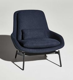 Field Lounge Chair in Edwards Navy, also has matching ottoman