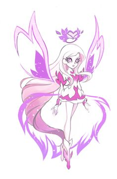 The is official concept art of Iris from Lolirock found at teamlolirock.tumblr.com.