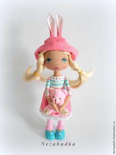 Купить Кукла текстильная интерьерная. - розовый, кукла, кукла ручной работы, кукла текстильная