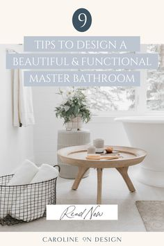 Creating a masterbath oasis? Here are 9 tips that will give you several ideas of what to consider before you design your own beautiful and functional master bathroom!